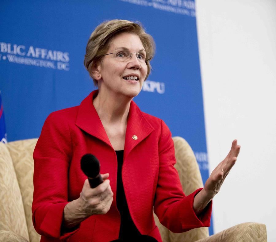 La senadora Elizabeth Warren (semisquare-x3)