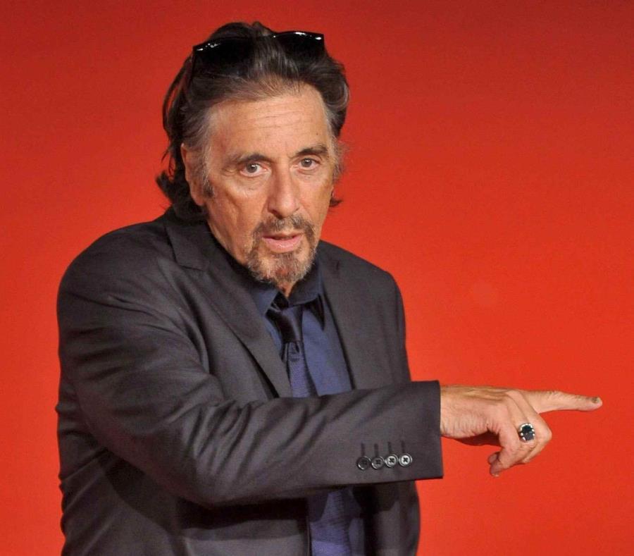 El actor y director estadounidense Al Pacino llega a la presentación de su película
