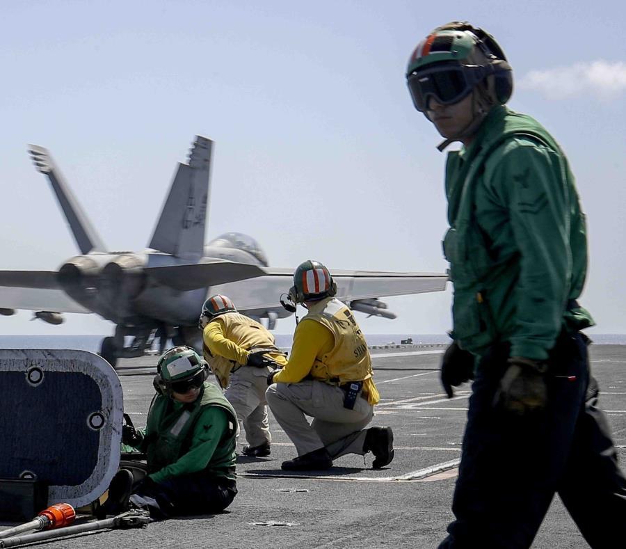 Un F/A-18E Super Hornet del Escuadr n de Cazas de Combate