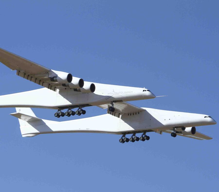 Stratolaunch, el avión más grande del mundo realiza su primer vuelo